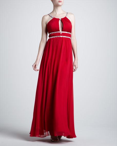 Halter Double-Waist Gown