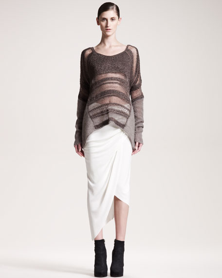 Helix Asymmetric Jersey Skirt