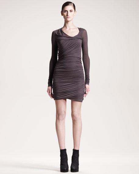 Twisted Jersey Dress, Moody Gray