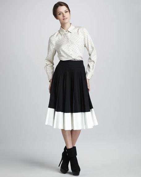 Tara Two-Tone Skirt