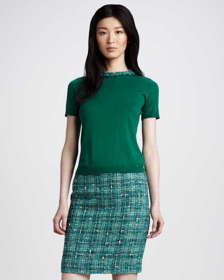 judy boucle skirt
