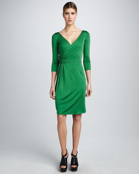 Three-Quarter Wrap Dress