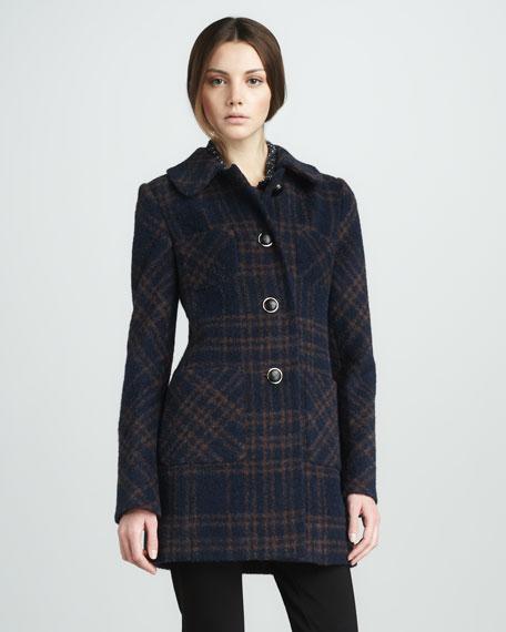 Denise Plaid Coat