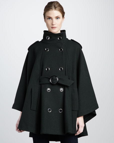 Candice Cape-Sleeve Coat