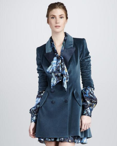 Cameron II Velvet Tuxedo Coat