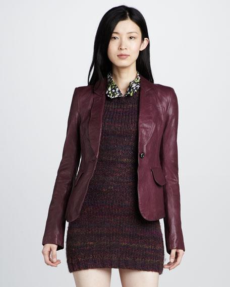 Daphne Leather Blazer