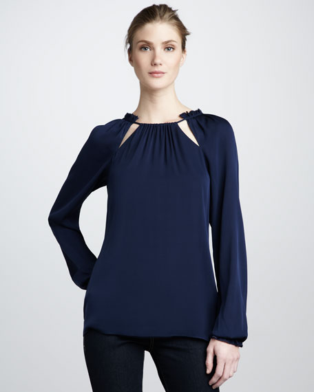 Lucy Raglan Cutout Top