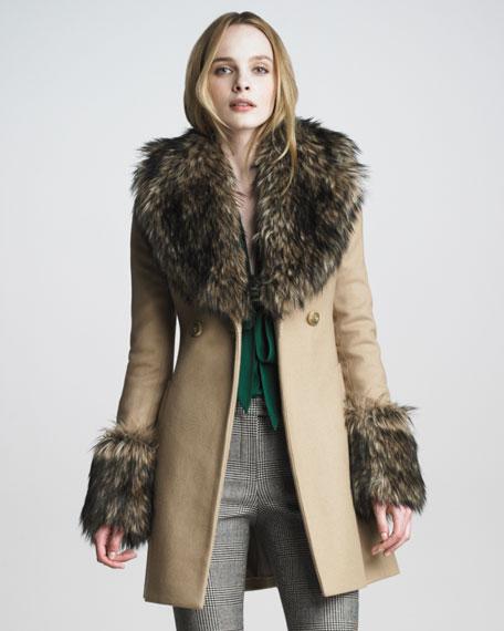 Rachel Zoe Trish Long Pea Coat