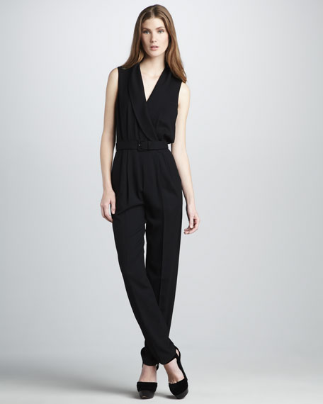 Edith II Shawl-Collar Jumpsuit