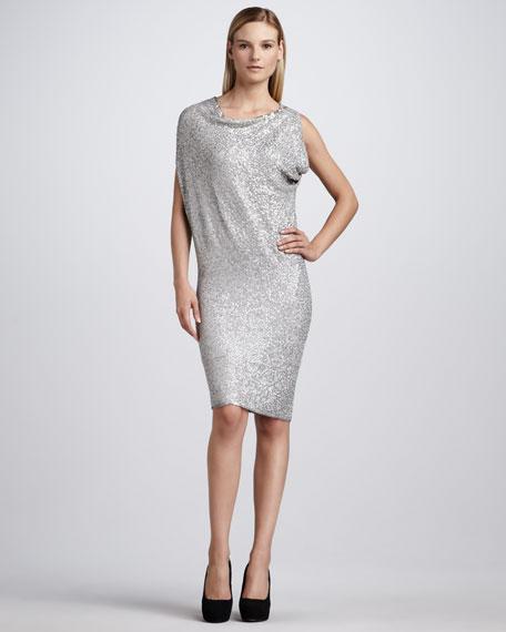 Draped Sequin Dress
