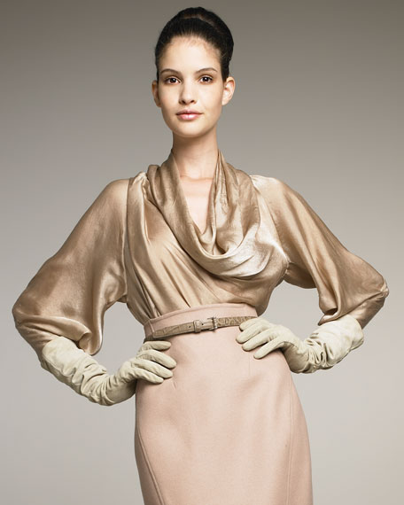 The Ultra-Glam Satin Blouse