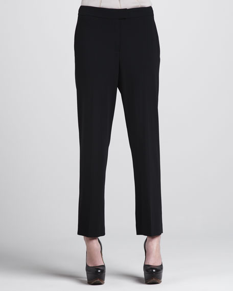 Cropped Skinny Stretch Trousers