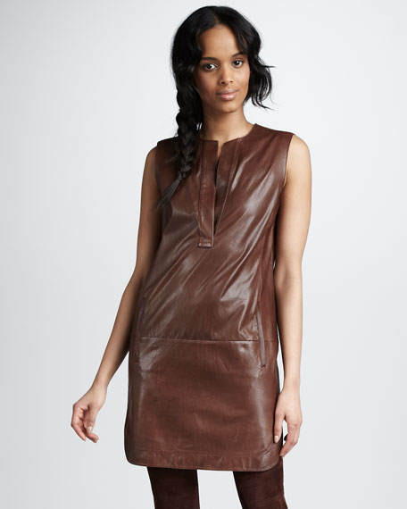 Leather Shirttail Dress