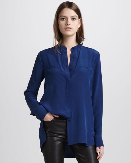 Silk Two-Pocket Shirt