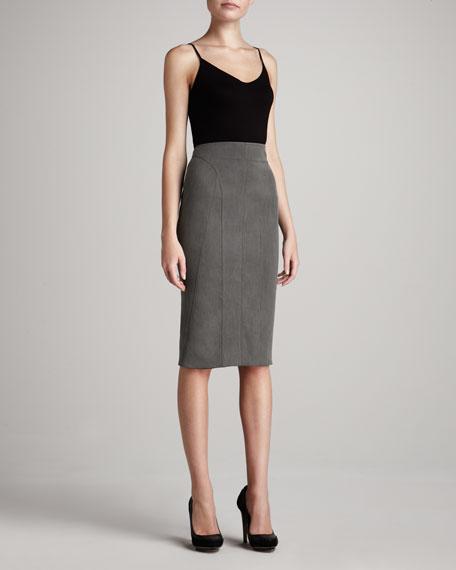 Seamed Sculpted Pencil Skirt