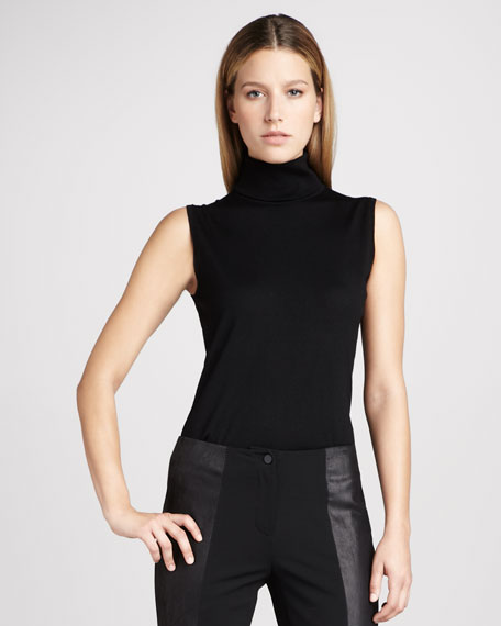 Sleeveless Turtleneck