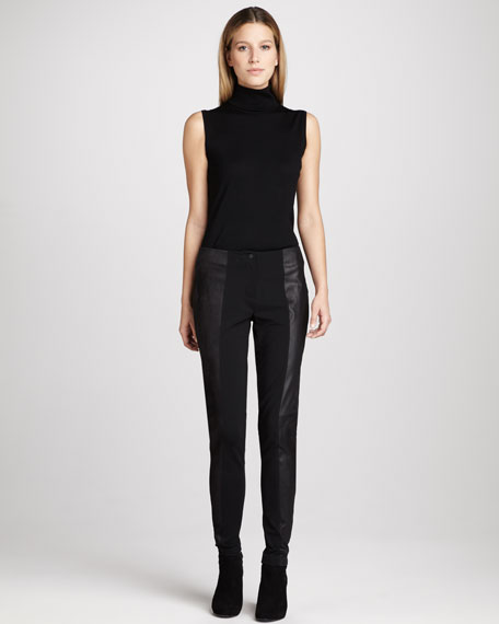 Suede-Panel Pants