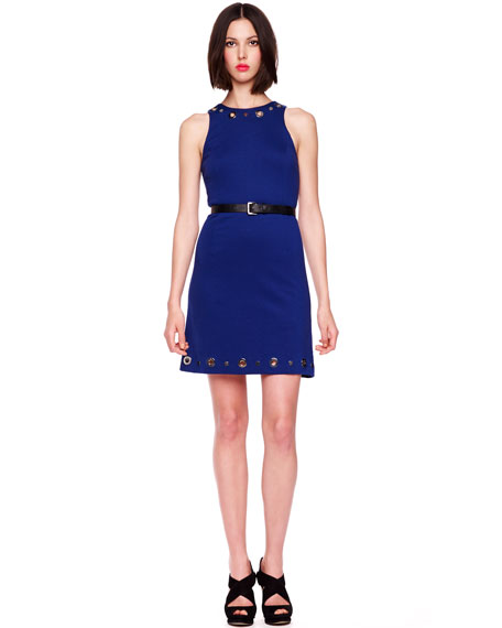Belted Grommet Dress