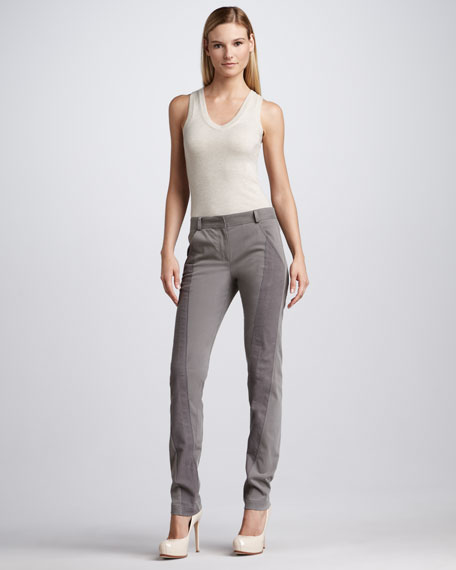 Slim Paneled Pants, Lunar