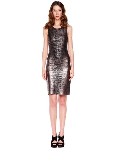 Foil-Printed Jersey Dress