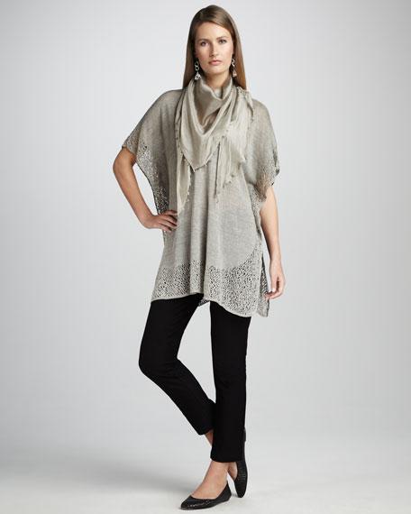 Washable-Crepe Slim Ankle Pants, Women's