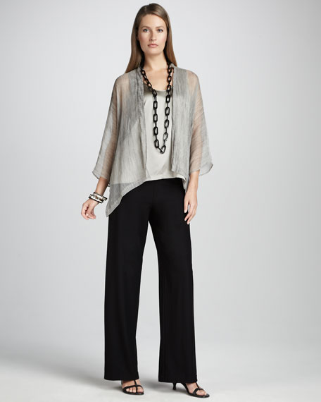 Sheer Crinkled Jacket, Petite