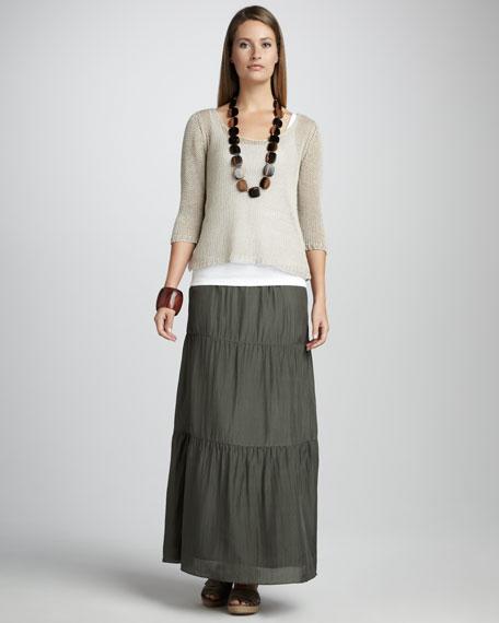 Linen Cord Top, Women's