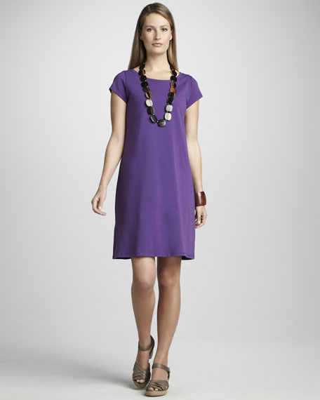 Stretch Organic Cotton Jersey Dress, Petite