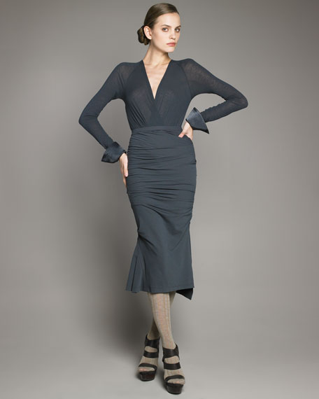 Fluid Ruched Skirt