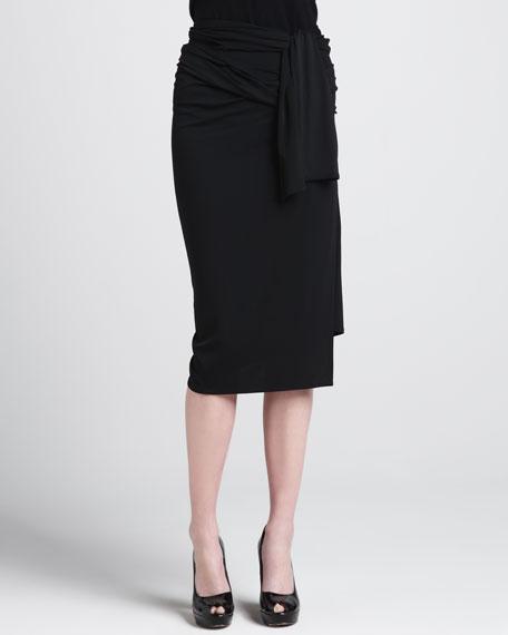Jersey Wrap-Waist Skirt