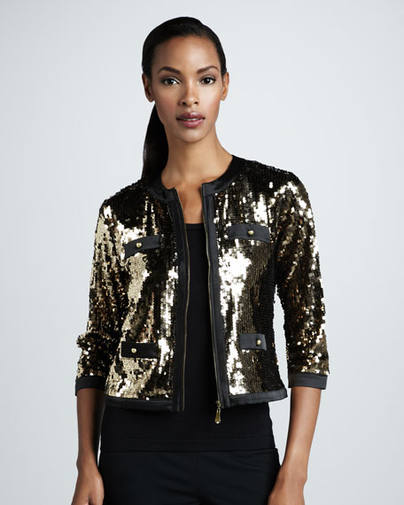 Sequined Jacket, Petite
