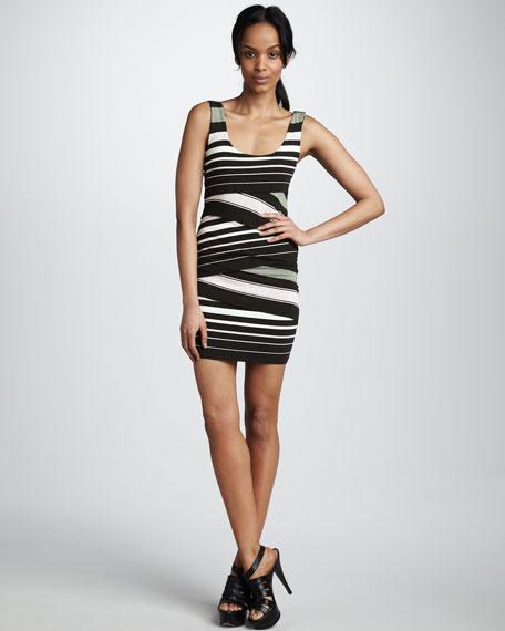 Cross-Panel Knit Dress