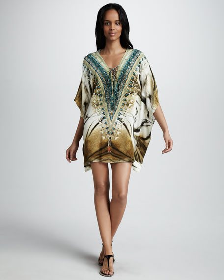 Bengal Lace-Up Caftan