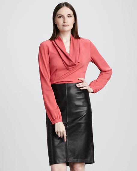 Slim Leather Skirt