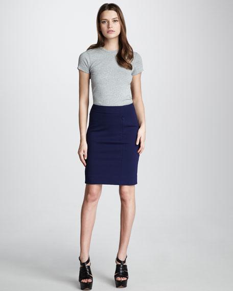 Koto Jersey Pencil Skirt, Blue