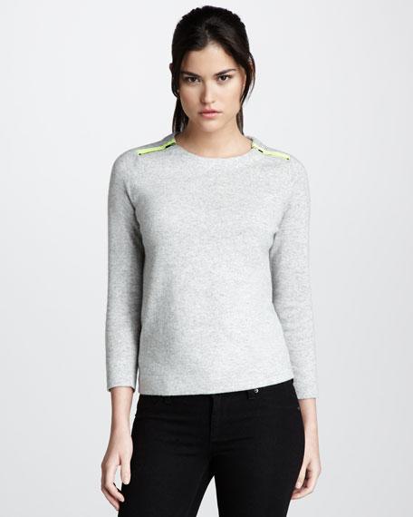 Celie Contrast-Detail Sweater
