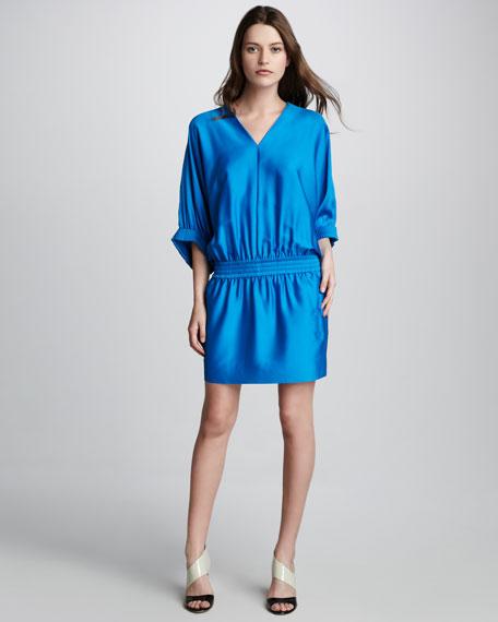Meiko Kimono-Sleeve Dress, Sailor Blue