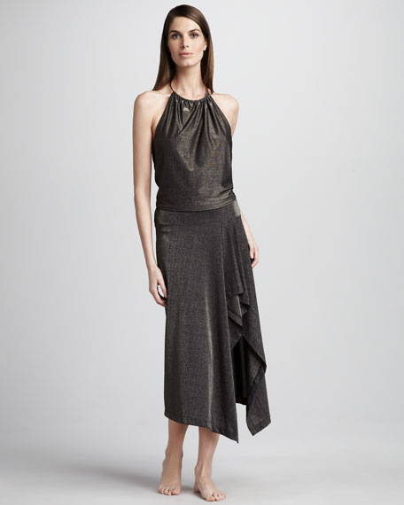 Metallic Coverup Skirt