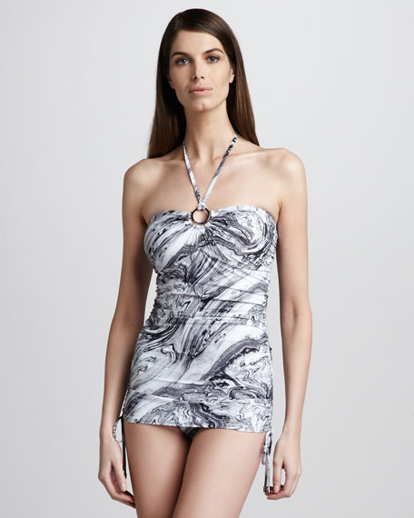 Oceanfront Drawstring One-Piece