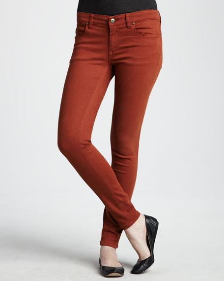 Spray-On Skinny Jeans, Orange