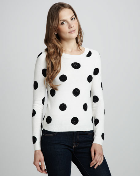 Celyn Sequin-Polka-Dot Sweater