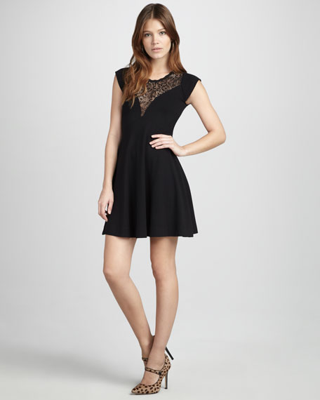Alicia Lace-Panel Dress