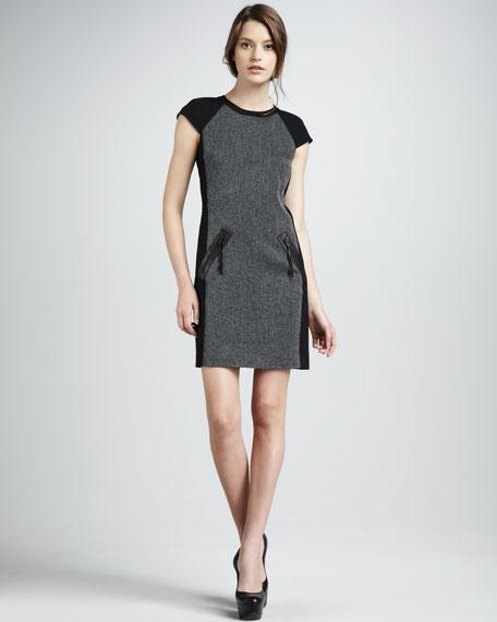 Paneled Suiting Dress