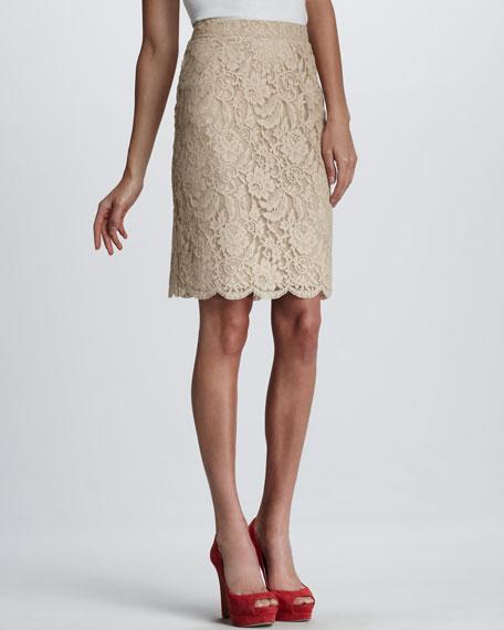 Daphne Lace Pencil Skirt