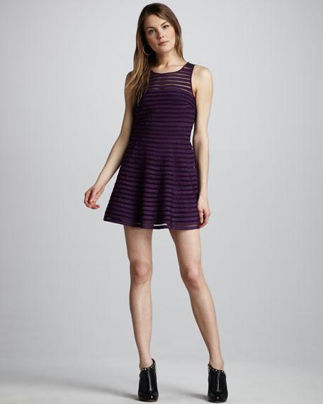 Mesh-Stripe Dress