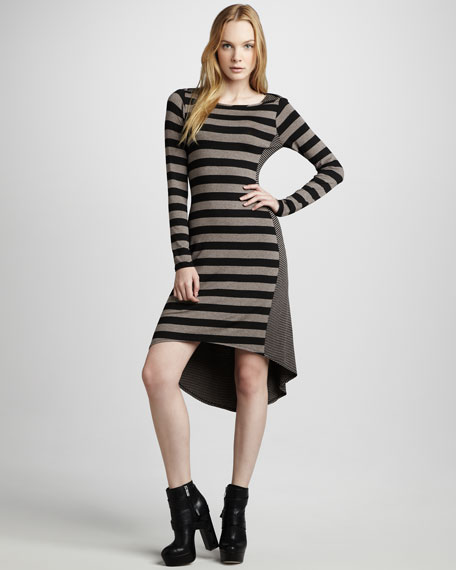 Mix-Stripe Knit Dress