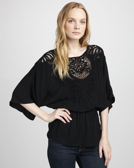 Valerie Crochet-Top Tunic