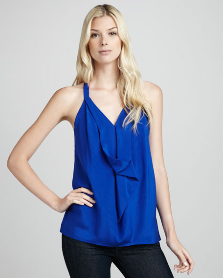 Marcelle Draped Silk Tank