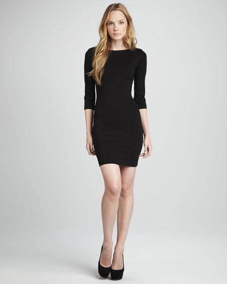V-Back Ponte Dress