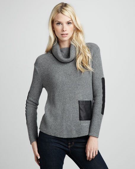 Leather-Patch Sweater